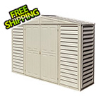 DuraMax Woodbridge 10.5' x 2.5' Vinyl Storage Shed with Foundation