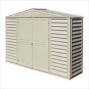 Woodbridge 10.5' x 2.75' Vinyl Storage Shed with Foundation