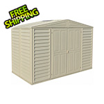 DuraMax Woodbridge 10.5' x 5' Vinyl Storage Shed with Foundation