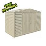 DuraMax Woodbridge 10.5' x 5' Vinyl Storage Shed with Foundation