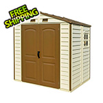 DuraMax StoreAll 8' x 5.5' Vinyl Shed with Foundation