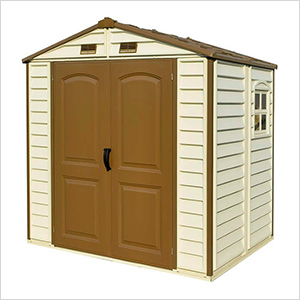 StoreAll 8' x 5.5' Vinyl Shed with Foundation