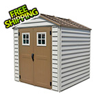 DuraMax StoreMax 7' x 7' Vinyl Shed with Foundation