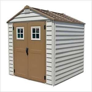 StoreMax 7' x 7' Vinyl Shed with Foundation