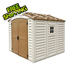 DuraMax DuraPlus 8' x 8' Vinyl Shed with Foundation