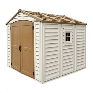 DuraPlus 8' x 8' Vinyl Shed with Foundation