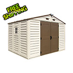 DuraMax Woodbridge Plus 10.5' x 8' Vinyl Shed with Foundation