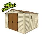 DuraMax Woodbridge Plus 10.5' x 10' Vinyl Shed with Foundation