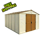 DuraMax Woodbridge Plus 10.5' x 13' Vinyl Shed with Foundation