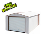 DuraMax Imperial 12' x 20' Metal Garage (White / Brown)