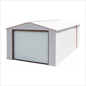 Imperial 12' x 20' Metal Garage (White / Brown)