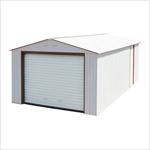 Imperial 12' x 32' Metal Garage (White / Brown)