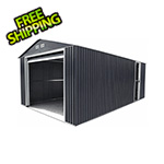 DuraMax Imperial 12' x 26' Metal Garage (Grey / White)