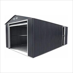 Imperial 12' x 26' Metal Garage (Grey / White)