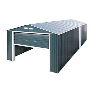 Imperial 12' x 32' Metal Garage (Grey / White)
