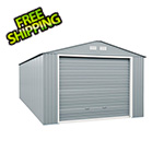 DuraMax Imperial 12' x 26' Metal Garage (Light Grey / White)