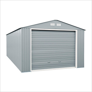 Imperial 12' x 26' Metal Garage (Light Grey / White)