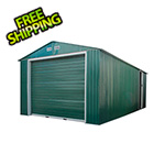 DuraMax Imperial 12' x 32' Metal Garage (Green / White)