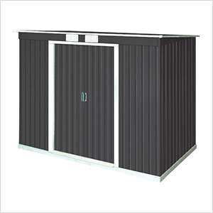 8' x 4' Pent Roof Metal Shed Kit