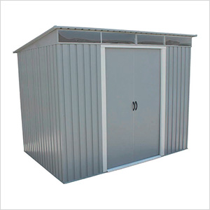 8' x 6' Pent Roof Metal Shed Kit