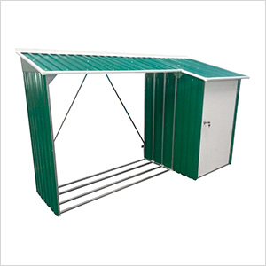 8' x 3' Woodstore Steel Storage Shed