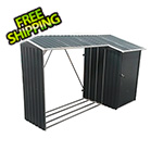 DuraMax 8' x 3' Woodstore Steel Storage Shed