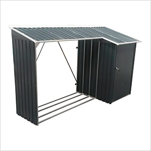 8' x 3' Woodstore Steel Storage Shed