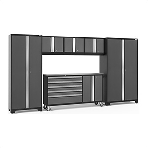 BOLD 3.0 Grey 6-Piece Project Center Set with Stainless Steel Top and LED Lights