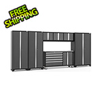 NewAge Garage Cabinets BOLD 3.0 Grey 7-Piece Project Center Set with Stainless Steel Top