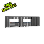NewAge Garage Cabinets BOLD 3.0 Grey 15-Piece Project Center Set with Bamboo Top