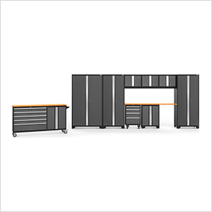 BOLD 3.0 Grey 10-Piece Project Center Set with Bamboo Top and LED Lights