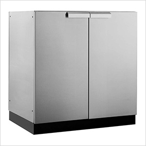 Stainless Steel 2-Door Base Cabinet