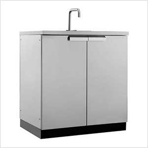 Stainless Steel 2-Door Sink Cabinet