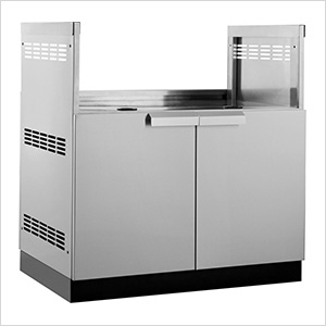 "Stainless Steel 33"" Insert Grill Cabinet"