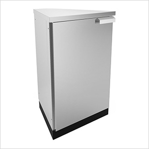 Stainless Steel 45-Degree Corner Cabinet (2-Pack)