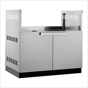 "Stainless Steel 40"" Insert Grill Cabinet"