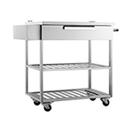 NewAge Outdoor Kitchens Stainless Steel Mobile Bar Cart