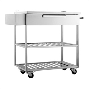 Stainless Steel Mobile Bar Cart