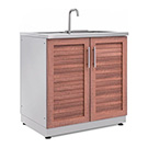 NewAge Outdoor Kitchens Grove 2-Door Sink Cabinet