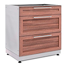 NewAge Outdoor Kitchens Grove 3-Drawer Base Cabinet