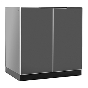 Aluminum Slate Grey 2-Door Base Cabinet