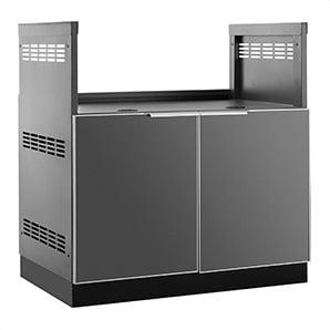 Aluminum Slate Grey 33 Insert Grill Cabinet