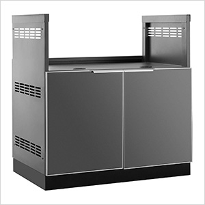 "Aluminum Slate Grey 33"" Insert Grill Cabinet"