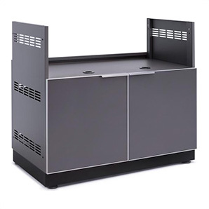 Aluminum Slate Grey 40 Insert Grill Cabinet