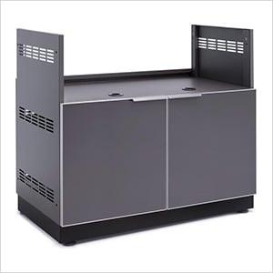 "Aluminum Slate Grey 40"" Insert Grill Cabinet"