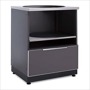 "Aluminum Slate Grey 28"" Kamado Cabinet"