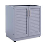 NewAge Outdoor Kitchens Aluminum Coastal Grey 2-Door Base Cabinet
