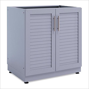 Aluminum Coastal Grey 2-Door Base Cabinet