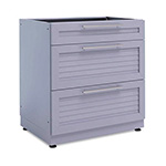 NewAge Outdoor Kitchens Aluminum Coastal Grey 3-Drawer Base Cabinet