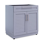 NewAge Outdoor Kitchens Aluminum Coastal Grey Combo Bar Cabinet